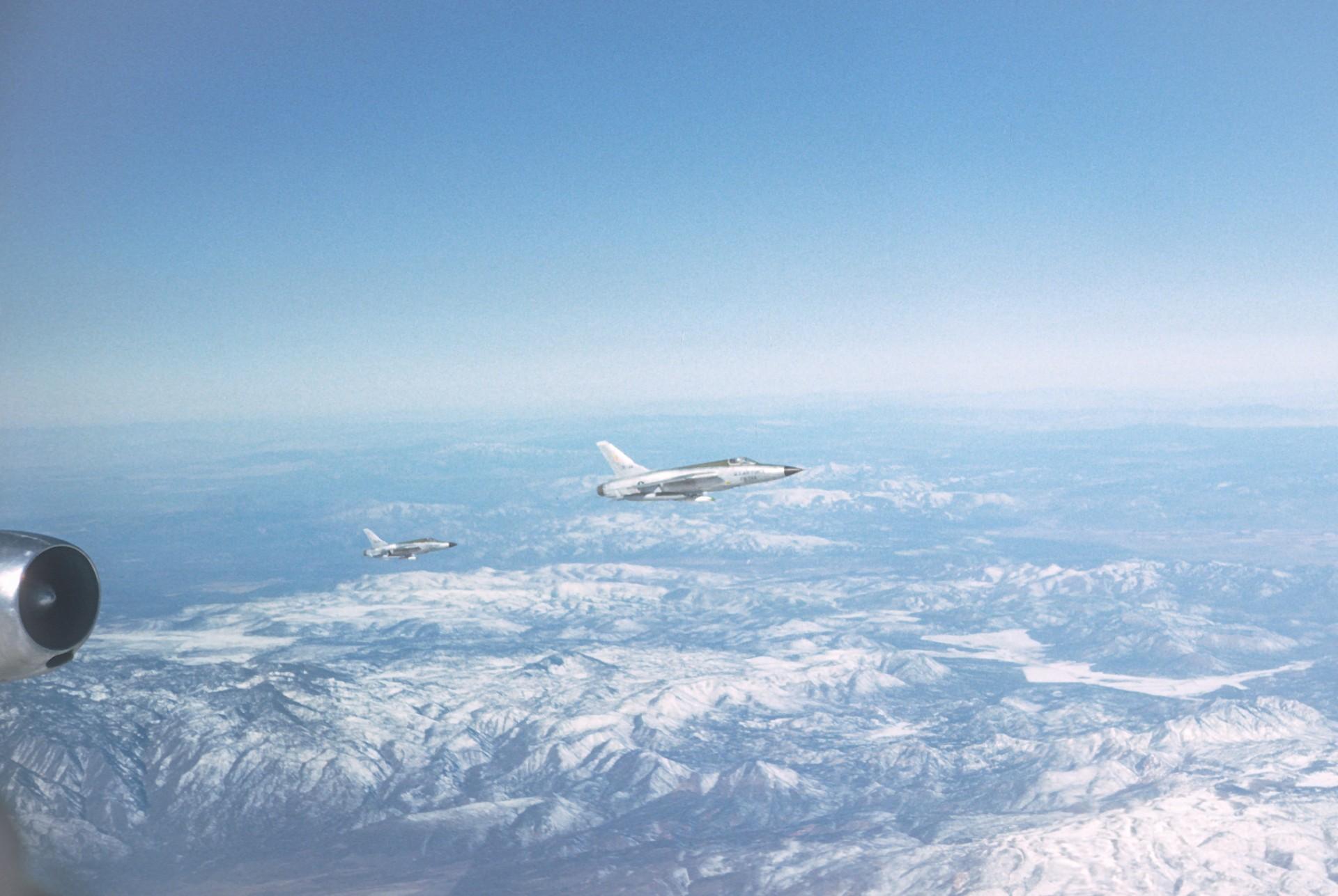 Ravitaillement F-105 depuis un C-135F