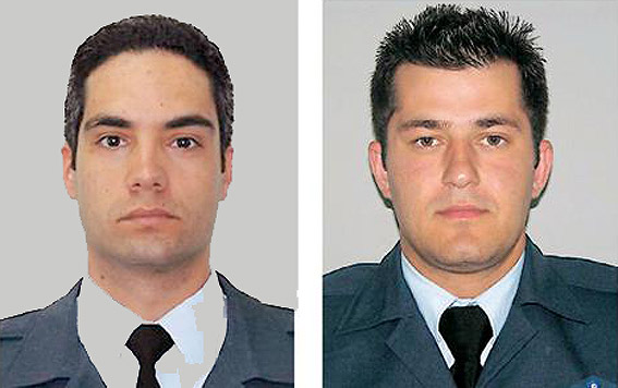Captain panagiotis lascaris and flight lieutenant athanasios zagas