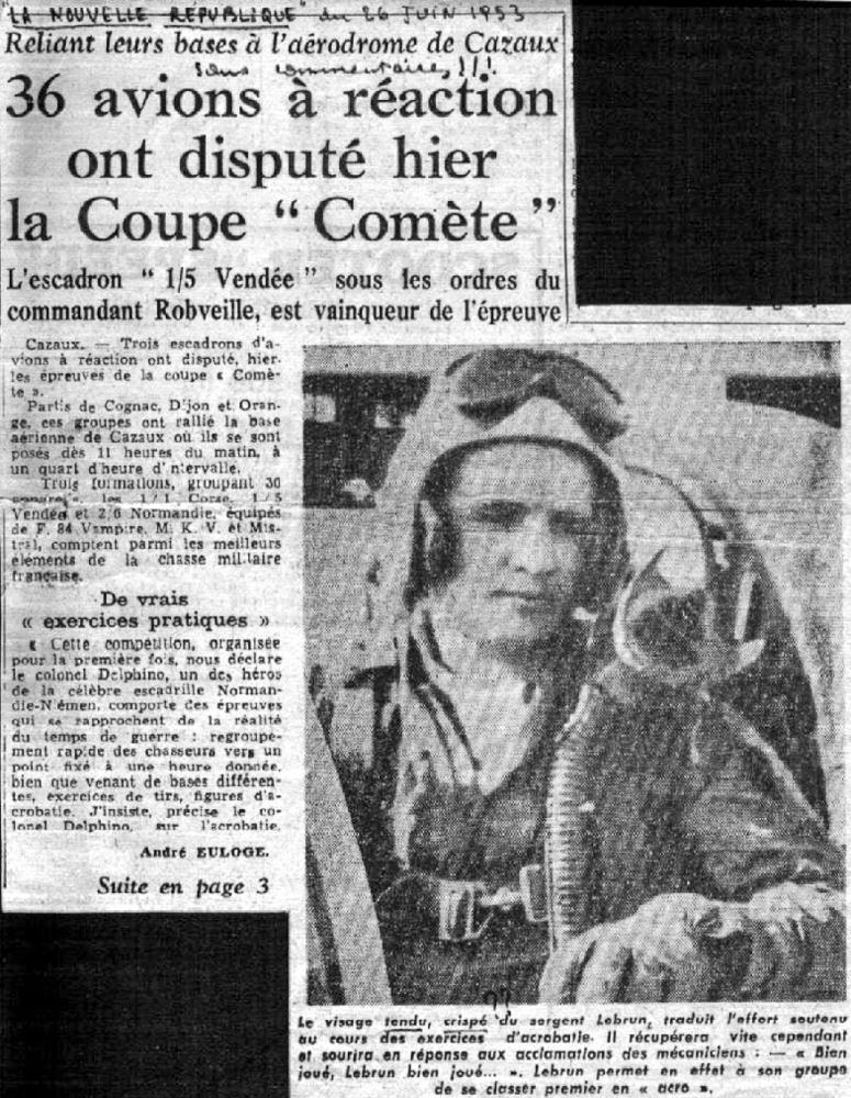 Coupe Comète Cazaux 1953