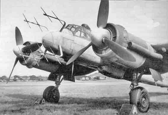Ju 88g6 de face